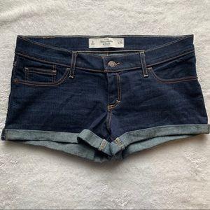 Abercrombie & Finch Blue Jean Shorts